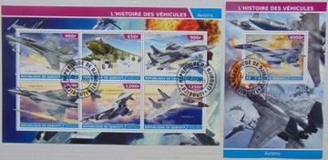 Самолеты истребители Djibouti arkusik+блок #1494a-b доставка товаров из Польши и Allegro на русском