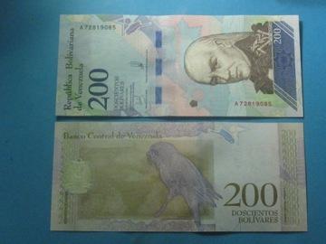 Венесуэла Банкнота 200 Bolivares А ! 2018 UNC P-Новый доставка товаров из Польши и Allegro на русском