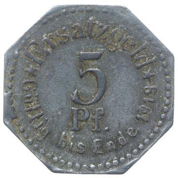 + Stettin - Щецин - NOTGELD - 5 Pfennig 1917 доставка товаров из Польши и Allegro на русском