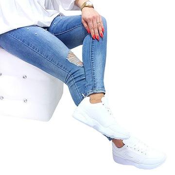 K531 КРОССОВКИ спортивная обувь белый эко КОЖА доставка товаров из Польши и Allegro на русском