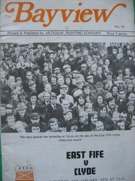 ЛИГА ШОТЛАНДСКАЯ Программа Ист Файф - Клайд 1972 доставка товаров из Польши и Allegro на русском