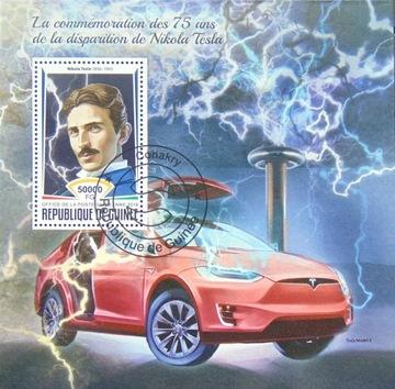 Никола Тесла ученые автомобили Гвинея блок #16234 доставка товаров из Польши и Allegro на русском