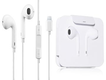 Оригинальные Наушники EarPods, Lightning iPhone 7 X доставка товаров из Польши и Allegro на русском