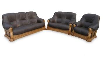 комплект кожаной мебели для отдыха диван-кровать ПРОИЗВОДИТЕЛЬ доставка товаров из Польши и Allegro на русском