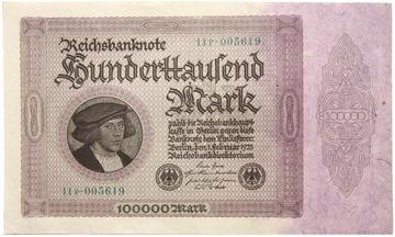 Германия - БАНКНОТЫ - 100000 Марок 1923 доставка товаров из Польши и Allegro на русском