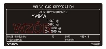Табличка / наклейка стартера Volvo доставка товаров из Польши и Allegro на русском