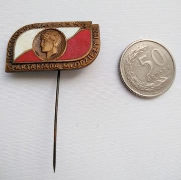 Odznaki Spartakiada Młodzieży 1971 dwie sztuki доставка товаров из Польши и Allegro на русском