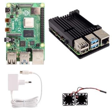 Набор Raspberry Pi 4 4GB большие активного охлаждения доставка товаров из Польши и Allegro на русском