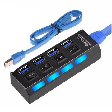 HUB USB 3.0 КОНЦЕНТРАТОР 4 ПОРТА USB РАЗВЕТВИТЕЛЬ доставка товаров из Польши и Allegro на русском