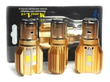 BA20D S2 35/35W 3 LED 1500lm Premium GOLD радиатор доставка товаров из Польши и Allegro на русском