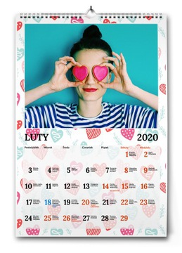 Фото-календарь А3 Лучший Подарок на день святого ВАЛЕНТИНА доставка товаров из Польши и Allegro на русском