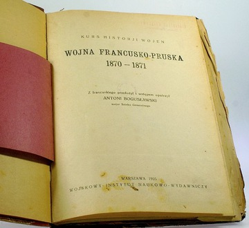 ВОЙНА, ФРАНКО-ПРУССКАЯ 1870 -1871 Богуславский 1925 доставка товаров из Польши и Allegro на русском
