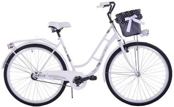 женский городской велосипед 28 ПОЛЬСКИЙ ГОЛЛАНДИЯ РЕТРО + КОРЗИНА доставка товаров из Польши и Allegro на русском