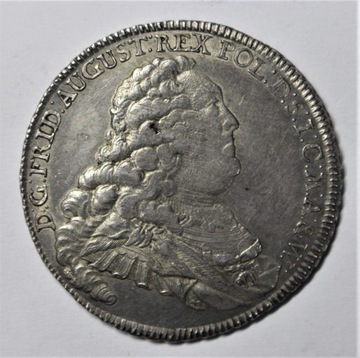 August III Sas, Доллар Дрездене 1757 IDB - с монограммой доставка товаров из Польши и Allegro на русском