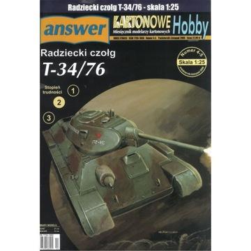 Answer 4-5/06 Советский танк Т-34/76 1:25 доставка товаров из Польши и Allegro на русском