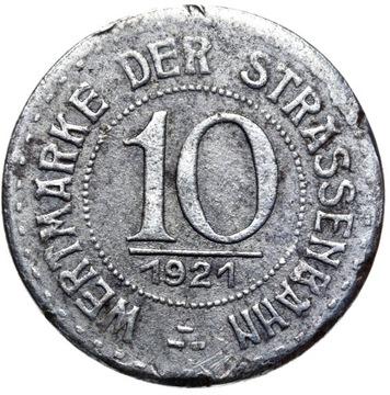 + Бреслау Вроцлав ФИШКУ ТРАМВАЯ 10 Pfennig 1921 доставка товаров из Польши и Allegro на русском