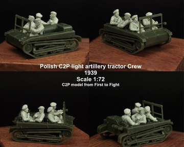 Scibor 72HM0014 C2P artillery tractor Crew 1:72 доставка товаров из Польши и Allegro на русском