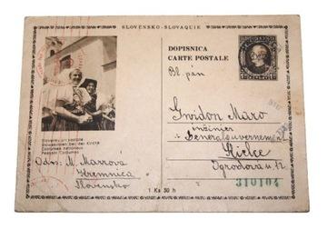 SLOVENSKA POSTA КЕЛЬЦЕ 15.XII.43 ОККУПАЦИЯ ЦЕНЗУРА доставка товаров из Польши и Allegro на русском