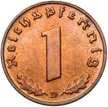 III Рейх 1 Reichspfennig 1939 Г MENNICZA ИЗ РУЛОНА доставка товаров из Польши и Allegro на русском