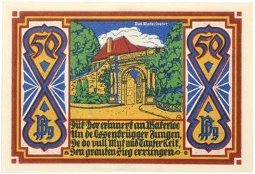 Osnabruck - КУПЮРА - 50 Pfennig 1921 - Состояние UNC 4 доставка товаров из Польши и Allegro на русском