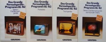 GRUNDIG TV Fernsehgerate 81/82 проспект каталог доставка товаров из Польши и Allegro на русском