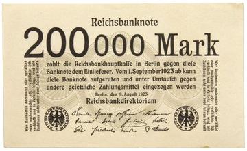 Германия - БАНКНОТЫ - 200000 Марок 1923 доставка товаров из Польши и Allegro на русском