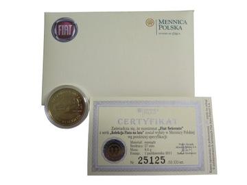 Numizmat, монета коллекционная Fiat SEICENTO доставка товаров из Польши и Allegro на русском
