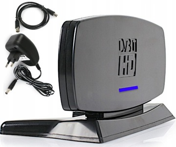 АНТЕННА ТВ Комнатная DVB-T/T2 UHF VHF + Усилитель доставка товаров из Польши и Allegro на русском