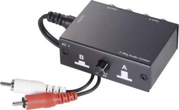 Ручной переключатель Аудио Переключатель SpeaKa 2 x RCA доставка товаров из Польши и Allegro на русском