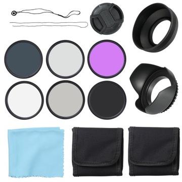 Набор фильтров для объектива UV CPL FLD 58 мм доставка товаров из Польши и Allegro на русском
