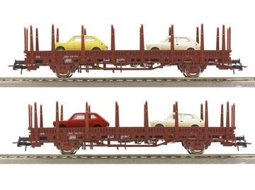 Набор из 2 вагонов платформ с грузом Roco 67086 доставка товаров из Польши и Allegro на русском