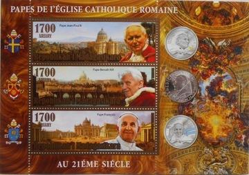 Римские папы xx века. Иоанн Павел II, Франциск Madag. #M1 доставка товаров из Польши и Allegro на русском
