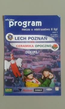 LECH POZNAŃ - CERAMIKA OPOCZNO 2001r доставка товаров из Польши и Allegro на русском
