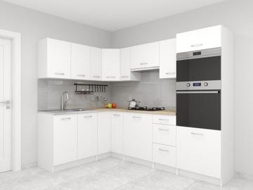 Набор кухонной мебели санкт-Петербург Угловые Белые доставка товаров из Польши и Allegro на русском