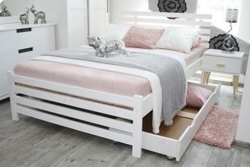 Кровать белая деревянная BRITA 120х200+ноги МАССИВНЫЕ доставка товаров из Польши и Allegro на русском