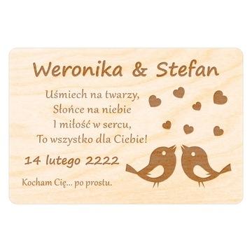 День святого ВАЛЕНТИНА ПОДАРОК открытка МАГНИТ гравер на 14 ФЕВРАЛЯ доставка товаров из Польши и Allegro на русском