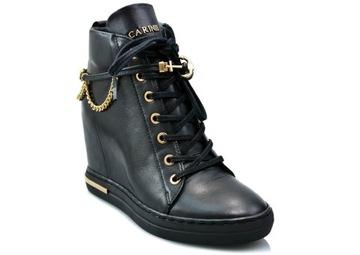 Sneakersy CARINII B5476 черный 38 элегантные туфли доставка товаров из Польши и Allegro на русском