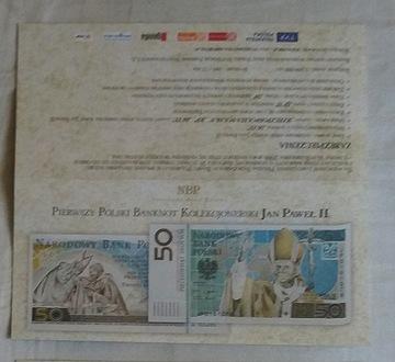 Папки для банкноты ИОАНН ПАВЕЛ II - пакет 50 штук доставка товаров из Польши и Allegro на русском