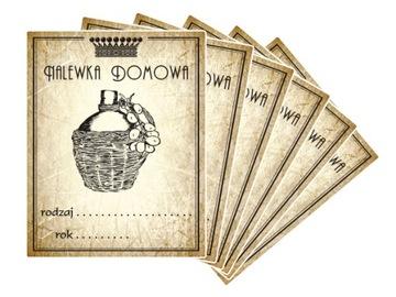 Этикетки Наклейки на Вино, Настойки, Самогон, Сидр 7см доставка товаров из Польши и Allegro на русском