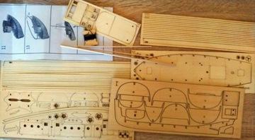 Drewniany model kutra rybackiego skala 1:30 доставка товаров из Польши и Allegro на русском