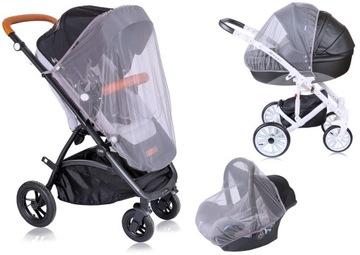 Mio bebe москитная сетка на коляску 3 в 1 автокресло СЕРАЯ доставка товаров из Польши и Allegro на русском