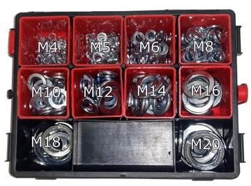 Шайба пружинная оцинк. DIN 127 комплект 302 шт доставка товаров из Польши и Allegro на русском