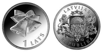 Латвия 1 год, Колокольчики новогодние 2012 доставка товаров из Польши и Allegro на русском
