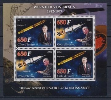 W. von Braun, космос, Сатурн, Кот-д'Ивуар ar #WKS1213 доставка товаров из Польши и Allegro на русском