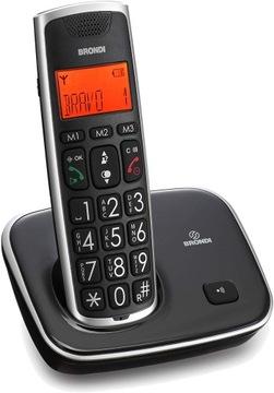 Телефон Brondi DECT Bravo Gold для Пенсионеров (С) доставка товаров из Польши и Allegro на русском