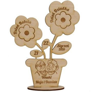 Цветочки Выгравированы День Бабушки и Дедушки Подарок доставка товаров из Польши и Allegro на русском
