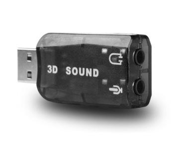 USB Звуковая карта Музыкальная Микрофон 5.1 HQ ДЖЕК доставка товаров из Польши и Allegro на русском