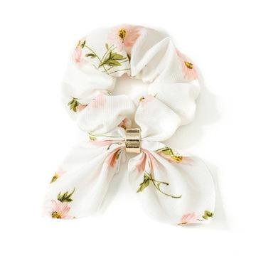 Резинка для волос frotka шарф scrunchies белый доставка товаров из Польши и Allegro на русском