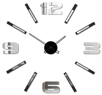 Современный БОЛЬШИЕ часы на стену ЗЕРКАЛО DIY 3D доставка товаров из Польши и Allegro на русском