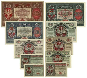 k06 . Банкнота y комплект 1/2-1000 марок енерал доставка товаров из Польши и Allegro на русском